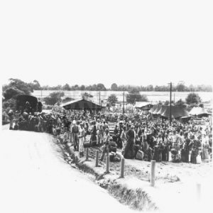 62nd Replacement Depot at Manila. 1945. KNIL-soldiers await transportation back to the Netherlands-Indies