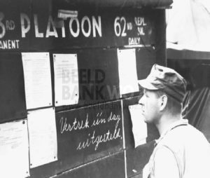 62nd Replacement Depot at Manila.1945. Reading the messages