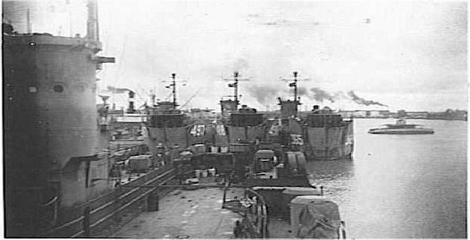 Warships off the coast of Okinawa